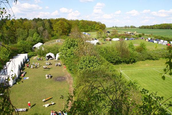 Der Jugendzeltplatz in Almke von oben Foto: Stadtjugendring
