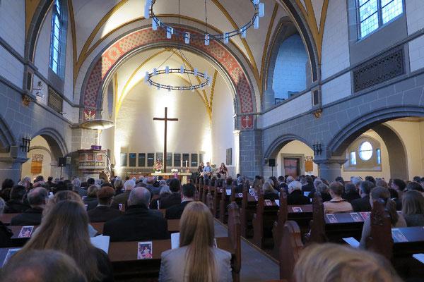 Die Christuskirche in Kassel beim Einführungsgottesdienst des neuen Generalsekretärs des deutschen CVJM, Pastor Hansjörg Kopp