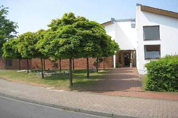 Der Eingang zur Kindertagesstätte des Deutschen Roten Kreuzes in Westhagen