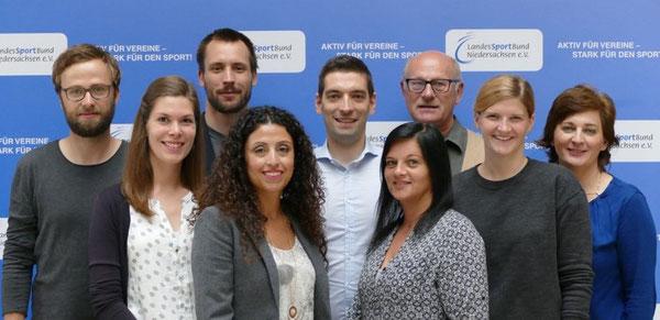 Von links: Robert Gräfe, Maike Fiedler, Johannes Schrieber, Claudia Rastan, Roy Gündel, Svenja Frimmberger, Hans Grote, Stefanie Kosik und Lucia Bock (Stand 12/2018)