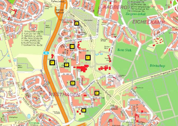 Die verschiedenen Spielmöglichkeiten in Westhagen