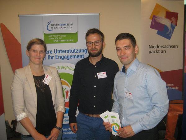 LandesSportBund Niedersachsen: Roy Gündel (von rechts), Robert Gräfe und Stefanie Kosik