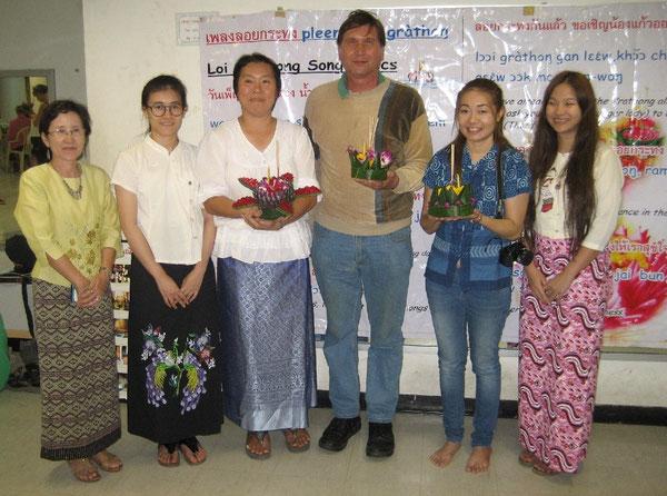 Thailändisch Lehrerinnen mit Manfred Wille