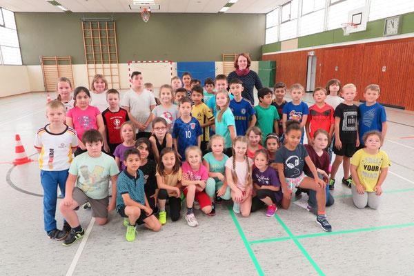 Die Klassen 3d und 3d mit Frederike Repke