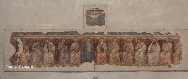 Immagine della Pentecoste nella chiesa di S Francesco ad Arezzo