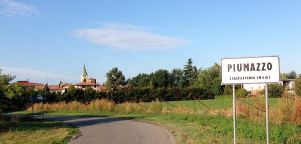 Ingresso a Piumazzo, da via Noce, dopo il cimitero