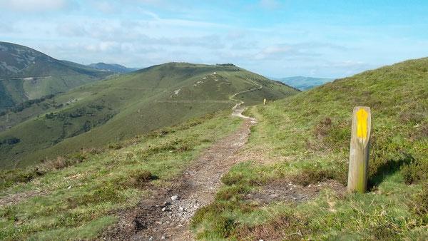 Un tratto alpestre del solitario e ardito Cammino Primitivo