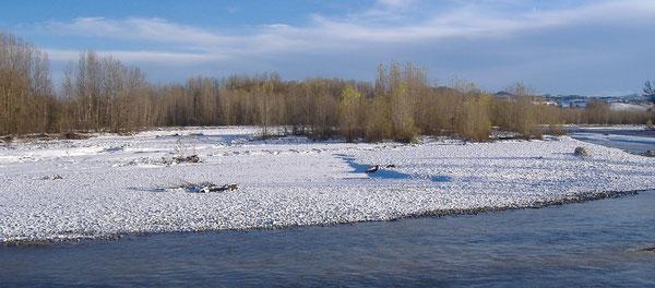 """"""" mari e fiumi, ghiaccio e neve, benedite il Signore"""". Panaro d'inverno"""