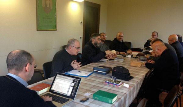 Un momento della riflessione guidata da don Stefano Maria Savoia, su I° Corinti 10-13.