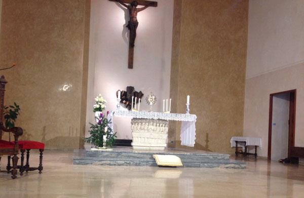 Cappella del Seminario, durante l'adorazione
