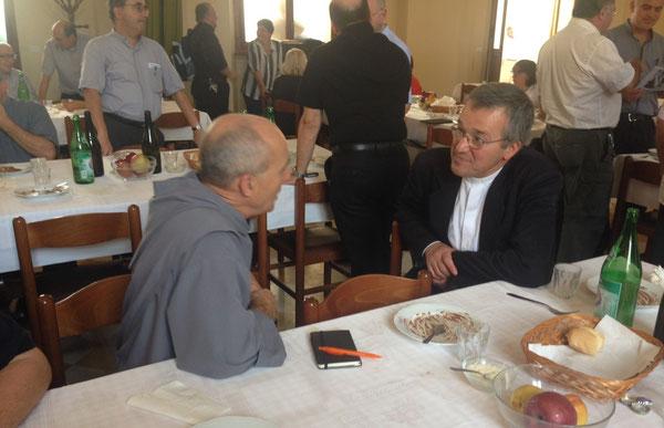 don Emmanuel della Comunità di S Jean e don Stefano Guizzardi