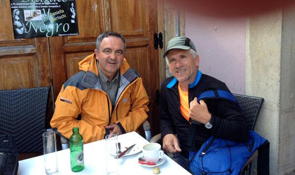 Con Bernardo, pellegrino buono e affettuoso, proveniente da Vigo