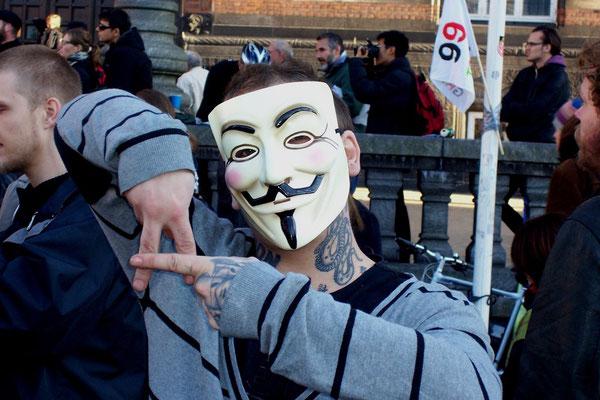 Fra Occupy Denmark - manifestationen, d.15.oktober 2011