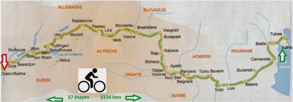 L'itinéraire emprunté par Rémi