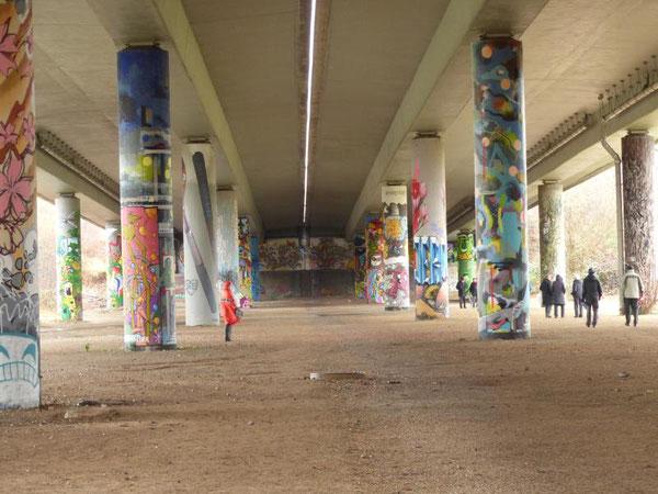 Die Graffiti-Galerie im GrünGürtel Frankfurt