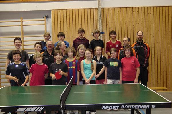 Gruppenbild mit Turnierleitung (Foto: Streicher)