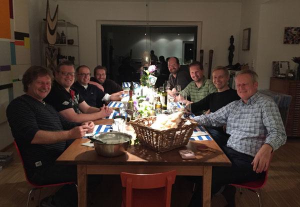 Erinnerungsbild an das Doppel-Dinner im Hause Pfaffhausen 2015