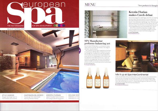 EUROPEAN SPA MAGAZINE APR/MAI2012 - AYURVEDIC COLLECTION  Massage Oils