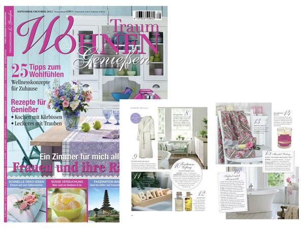 TRAUMWOHNEN & GENIESSEN OKTOBER 2012**AYURVEDIC WINTER SPICES - Limited Edition **Massage&BathOil & Milkbath&CocoButter
