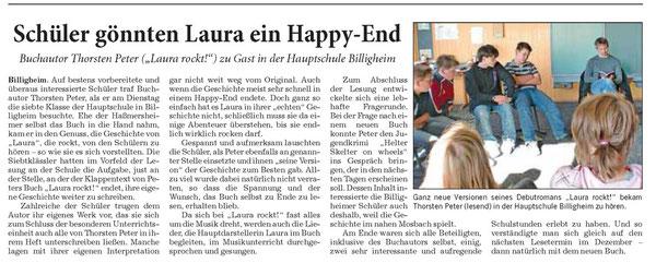 LAURA ROCKT! das Klassenzimmer in Billigheim