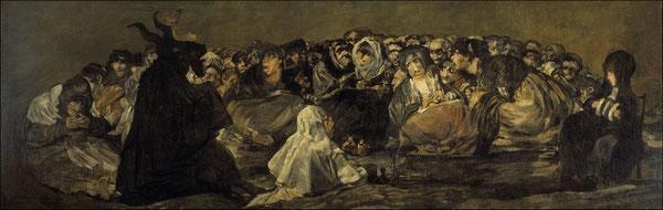 《魔女の夜宴》1821-1823年