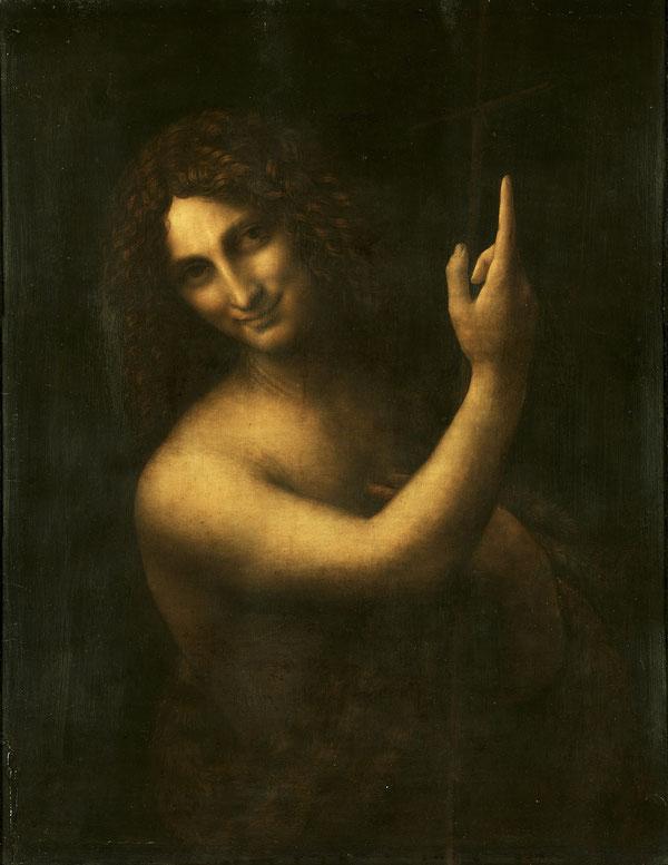 レオナルド・ダ・ヴィンチ《洗礼者ヨハネ》1513年〜1516年。Wikipediaより。