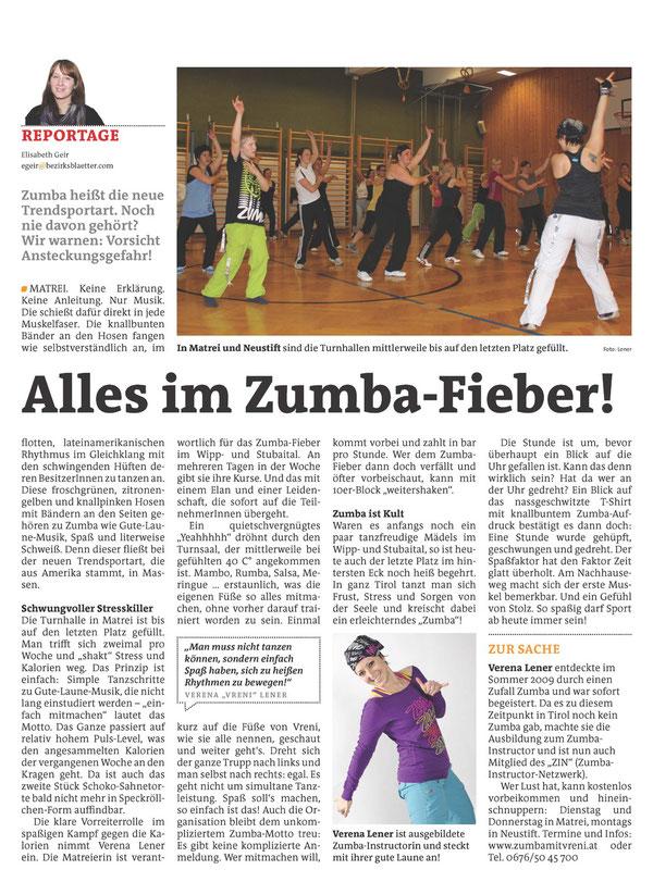 Artikel im Bezirksblatt vom MI 9.11.2011 by Lisi Geir
