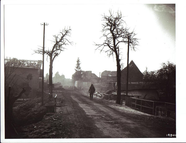 Bennwihr on December 27, 1944 after  the Battle (Photo courtesy National Archives)