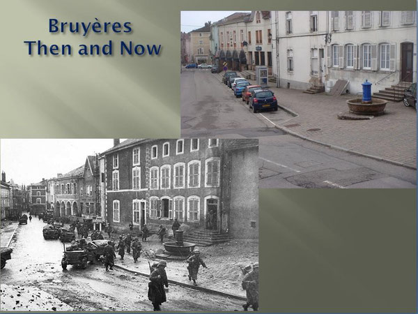 Bruyères on October 18, 1944  and April 2009
