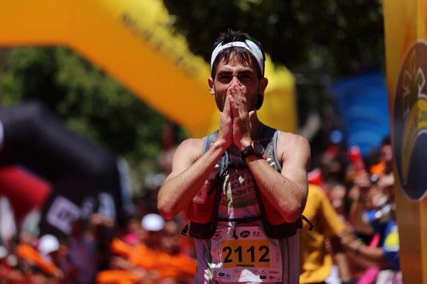 Pablo Villa en la meta, Transvulcania 2014
