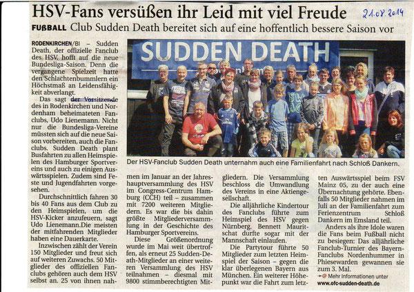 Richtigstellung der NWZ folgte gleich am Tag danach: Udo Lienemann ist der Pressewart. Der Vorsitzender des Fanclubs ist Jochen Spekker. Die NWZ hat sich für den Fehler mit einer Pressenotiz entschuldigt.