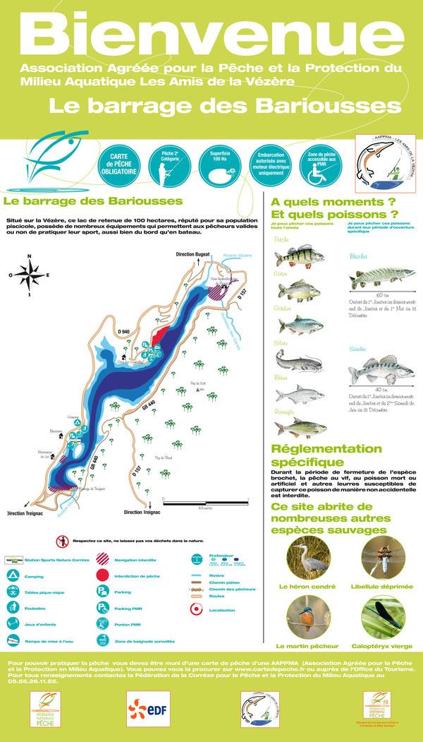 Réglementation pêche lac des Bariousses