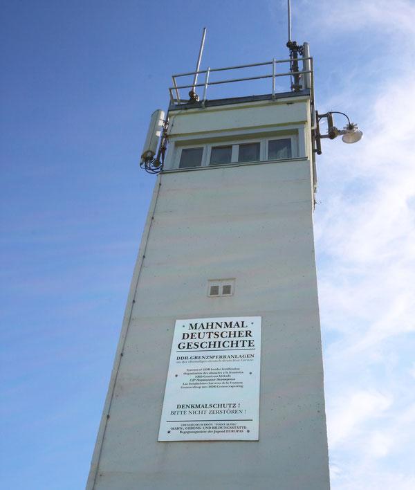Grenzturm der ehemaligen DDR.