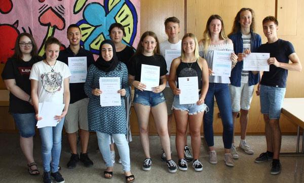 Die Preisträger der Klassenstufe 10