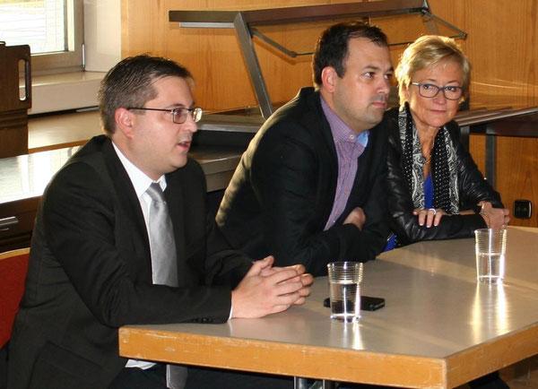 V.l.n.r.: Herr Joa, Herr Brandl und Frau Schleicher-Rothmund