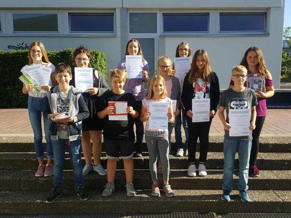 Die Preisträger der Klassenstufe 6