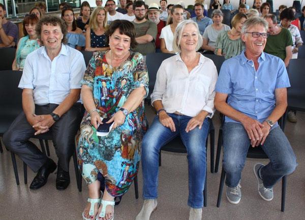 Werner König, Heidi Steinbrecher, Monika Follenius und Klaus Wilhelm