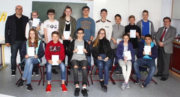 Teilnehmer der 8. Klassen