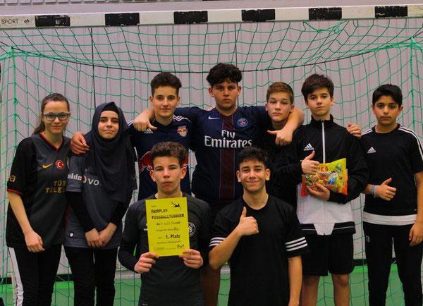 Klasse 8b - Sieger des diesjährigen Fußballturniers