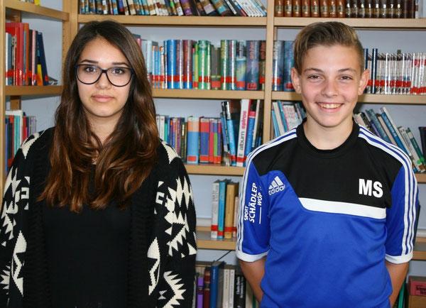 Schülersprecherin Selin Schmidt (10c) und Schülersprecher Max Stuppert (9c)