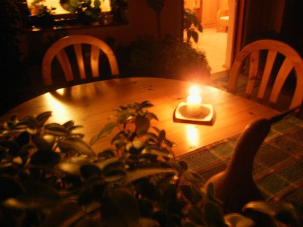 ... und hier die Meditationen am Abend in der Gruppe. Auch beim Heifasten sitzen wir hier zusammen.