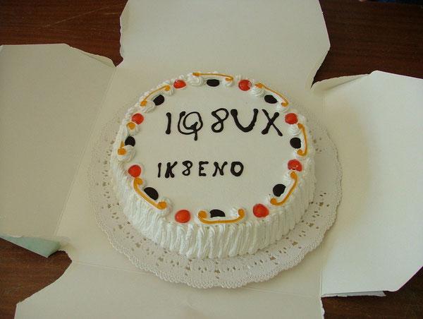 Finale con la torta, offerta da IK8ENO