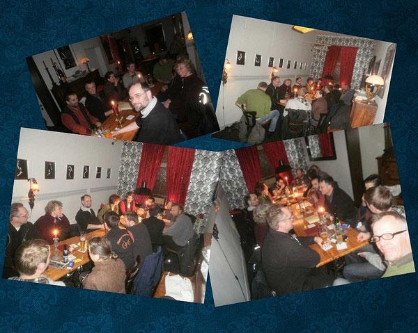 Ein Bild aus alten Zeiten, so begann einst der Stammtisch, damals im Mephisto in der Jägerstraße.