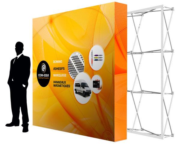 stand d'exposition parapluie, léger et rapide à monter