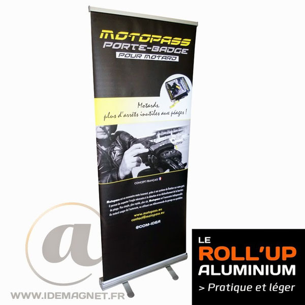 roll'up aluminium, solidité et durabilité.
