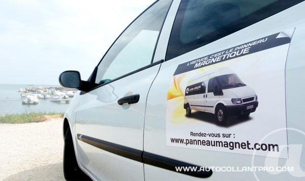 panneau magnetique voiture