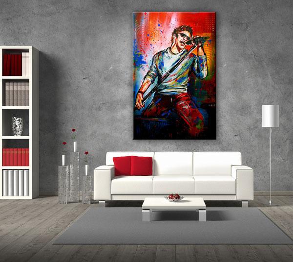 Wohnraumbeispiel - Sänger und Musiker Gemälde