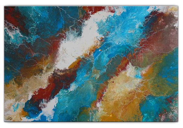 STIMMUNGEN - Abstrakte Malerei bunt blau lila - Abstrakte Kunst - Original Künstler Bild