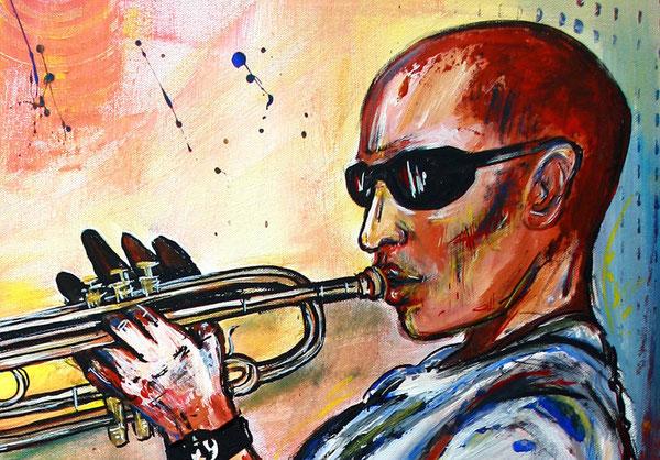 Bildausschnitt - Trompeter