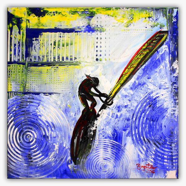 WINDSURFER - Surfer Bilder Gemälde - Wellenreiter Kunst Malerei Sport - Acrylbilder kaufen